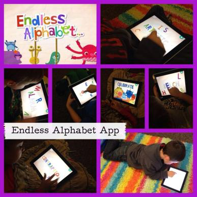 My students working with Endless Alphabet App