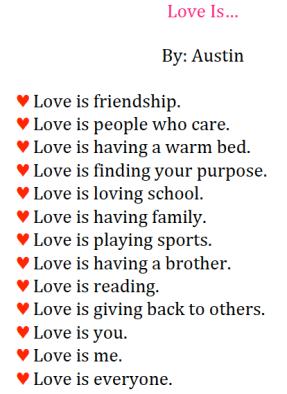 Austin's Love Is List
