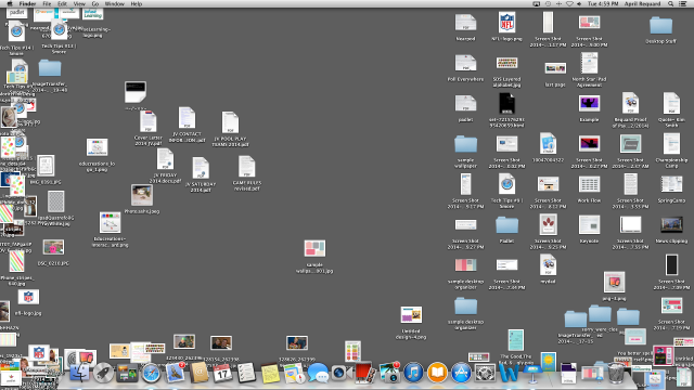 This is what my desktop usually looks like (YIKES!)
