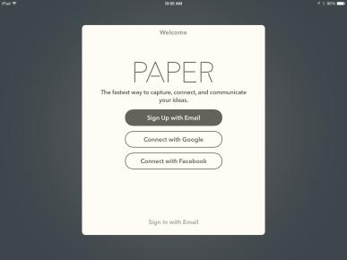 Paper 53 new login screen